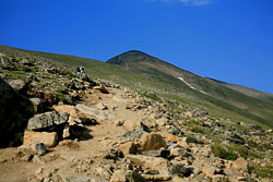 False summit of Mt Elbert