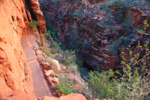 Up the switchbacks out of Refrigerator Canyon