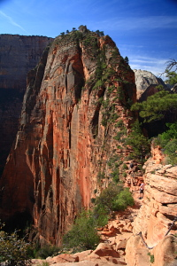 Angels Landing from Scout Lookout