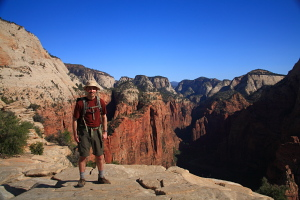 Hanging out on Angels Landing