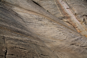 Sandstone along the West Rim Trail