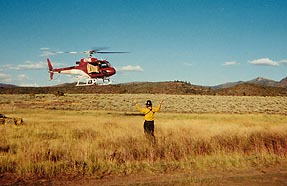 Helidrop at Pot Creek spike camp 2001