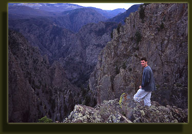 Dave checks out the rim of Black Canyon