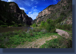 Colorado River through Glenwood Canyon