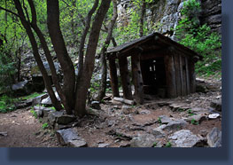Hut near Hanging Lake