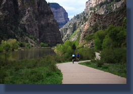 The bikepath through Glenwood Canyon