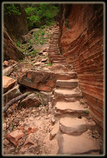 Steps into Hidden Canyon