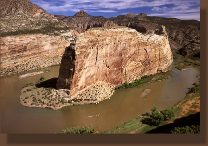 Steamboat Rock and the Green River