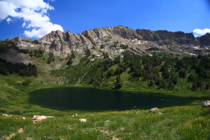 Favre Lake and Lake Peak