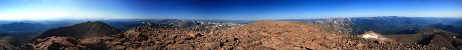 360 Panorama from Longs Peak summit