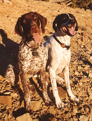 Frank and Makenzie at Black Ridge Canyons, CO. October 2002