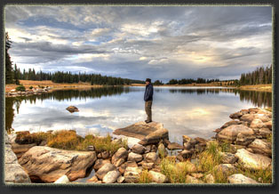 Mutt Lake - Jeff Lake - Deep Lake in the Snowy Range, Wyoming