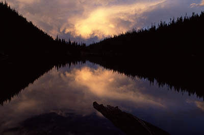 Odessa Lake at sunset, Rocky Mountain National Park