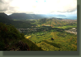 Looking north from Olomana