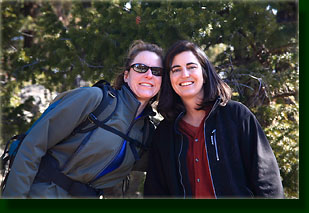Christine & Andra enjoying the hike