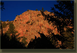 Early morning light on the east flank of Red Mt