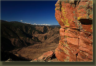 Mummy Range and Poudre Canyon Highway from Red Mt