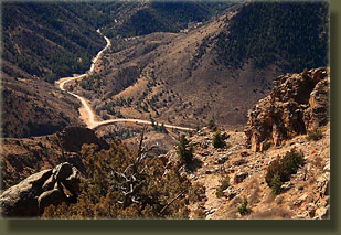 Poudre Canyon Highway meets Stove Prairie Road