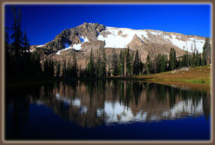 Mt Ethel reflected in unnamed pool near the Continental Divide