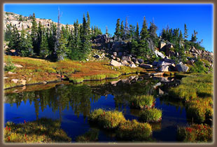 Pools near the Continental Divide, Mt Zirkel Wilderness, Colorado