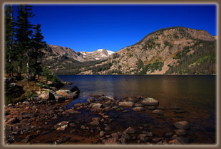 Rainbow Lake with Mt Ethel in the distance, Mt Zirkel Wilderness, Colorado