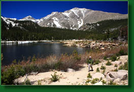 Sandbeach Lake and Mt Meeker