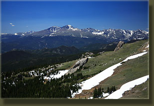 Longs Peak and Rocky Mt National Park from Signal Mt