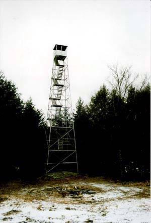 Fire tower on Spruce Mountain, New York