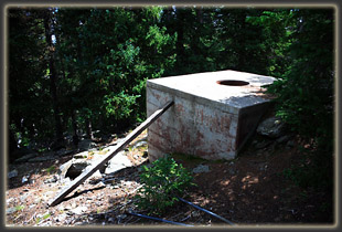 Water cistern for fire tower