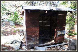 An old shed near the firetower remains