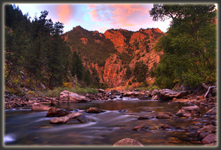 Poudre River at dawn (on my drive to West White Pine)